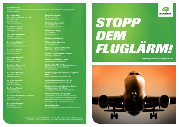 stopp dem fluglärm! - BIM-BürgerInitiative Marchfeld - Groß Enzersdorf