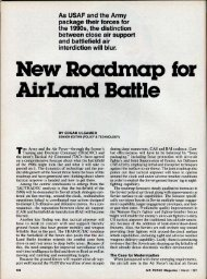 New Roadmap for Air Land Battle - Air Force Magazine