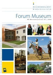 Forum Museum 2008-2 - Museumsmanagement Niederösterreich