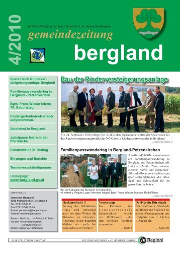 (1,45 MB) - .PDF - der Gemeinde Bergland
