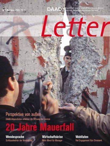 20 Jahre Mauerfall - DAAD-magazin