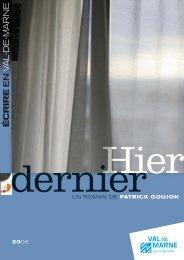 un roman de patrick goujon - Lecture publique en Val-de-Marne