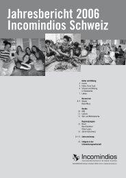 Jahresbericht 2006 Incomindios Schweiz