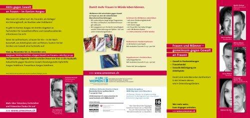 Frauen und Männer – gemeinsam gegen Gewalt an Frauen