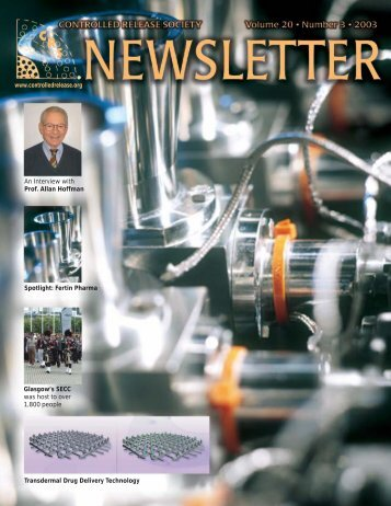 CRS Newsletter. Volume 20, Number 3. 2003 - Controlled Release ...