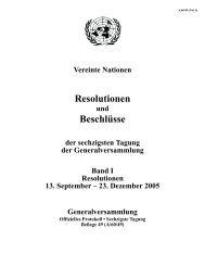 Resolutionen Beschlüsse - the United Nations