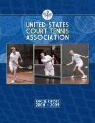 united states court tennis association united states court tennis ...
