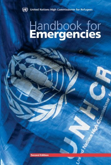 UNHCR Handbook for Emergencies - UNHCR eCentre