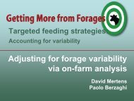 Adjusting for forage variability via on-farm analysis