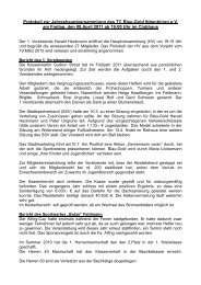 Protokoll Generalversammlung 2011 - TC Blau-Gold Ibbenbüren