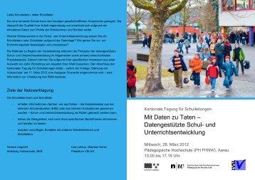 Netzwerktagung 14 - Programm - Schulen Aargau