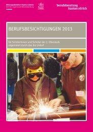 BerufsBesichtigungen 2013 - Amt für Jugend und Berufsberatung ...