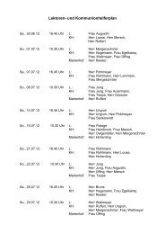Lektoren- und Kommunionhelferplan für 30. Juni bis 29 - St. Reinhildis