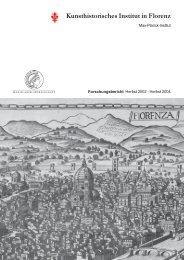 Statusbericht - Homepage - Kunsthistorisches Institut in Florenz