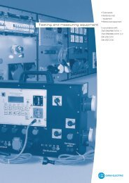 Mobile testing and measuring equipment - GIFAS-ELECTRIC GmbH