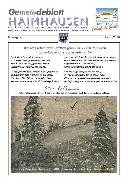 "Gemeindeblatt HAIMHAUSEN - Verlag ""AUS DA G'MOA"""