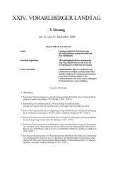3. Sitzung - Vorarlberg
