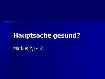 Hauptsache gesund? - EFG Hemsbach