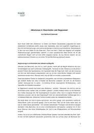 Atheismus in Geschichte und Gegenwart 1 - fowid ...