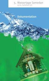 Thematik der 5. Wassertage Samedan