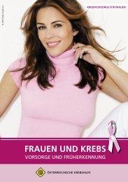 Broschüre »Frauen und Krebs - Österreichische Krebshilfe