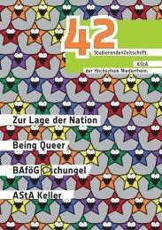 Zur Lage der Nation Being Queer BAföG Dschungel AStA Keller