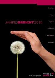 Zum Jahresbericht 2010 - Onko Plus