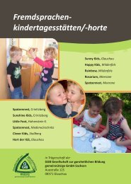 Fremdsprachen- kindertagesstätten/-horte - GGB Sachsen