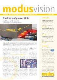 Qualität auf ganzer Linie - Modus High-tech electronics GmbH
