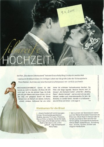 Kurier Freizeit 9.4.2011 - Gerstner