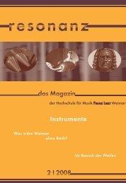 Pasticcio - Hochschule für Musik Franz Liszt