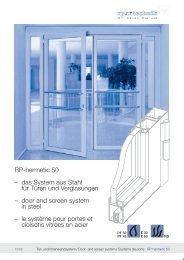 RP-hermetic 50 – das System aus Stahl für Türen und ... - RP Technik