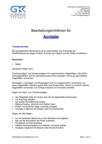 Acrylglas - Glimberger
