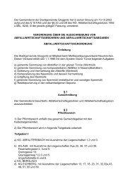 Der Gemeinderat der Stadtgemeinde Gloggnitz hat in seiner Sitzung ...