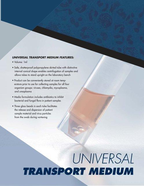 universal transport medium features - Jorgensen Laboratories