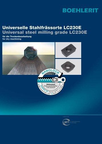Universelle Stahlfrässorte LC230E Universal steel ... - (495) 645-25-17