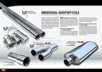 Universal-aUspUffteile UNIVERSAL-AUSPUFFTEILE