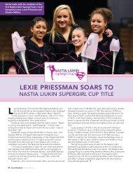 Lexie Priessman soars to - USA Gymnastics