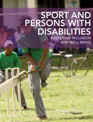 SPORT AND PERSONS WITH DISABILITIES - Right to Play