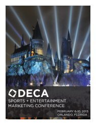SPORTS + ENTERTAINMENT MARKETING CONFERENCE - DECA
