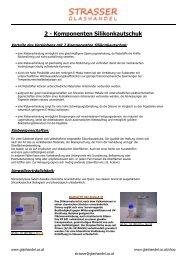 Komponenten Silikonkautschuk - Strasser Glashandel KG