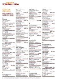 AUSSTELLER- VERZEICHNIS: BASLER HERBST- WARENMESSE ...