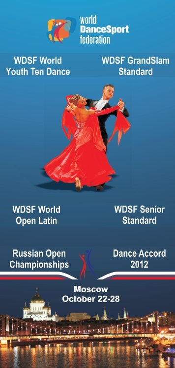 Official leaflet from event organizer - World DanceSport Federation