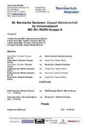 Doppel Meisterschaft by Universalsport MD 45+ R6/R9 Gruppe A