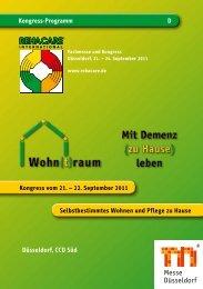 Kongress-Programm D Düsseldorf, CCD Süd Selbstbestimmtes ...