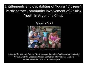Climate Change, Youth, and Land Markets in Urban Areas