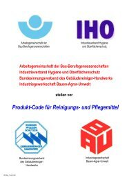 Produkt-Code für Reinigungs-, Pflege- und Desinfektionsmittel