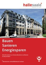 Bauen Sanieren Energiesparen - Stadt Halle (Saale)