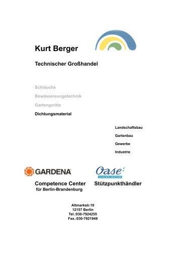 Dichtungen - Verschraub.- Flansche 2010-1 - Kurt Berger