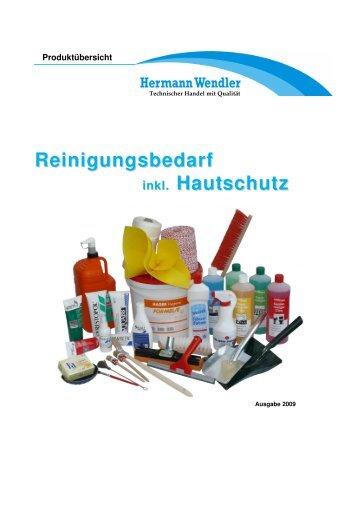 Reinigungsbedarf inkl. Hautschutz - Hermann Wendler GmbH